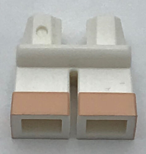 Lego New White Legs Short with Light Flesh Feet Pattern Pants Piece