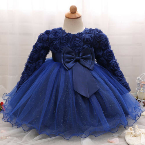 Baby Girl Princess Dress Bridesmaid Pageant Gown Birthday Party Wedding Dress KN
