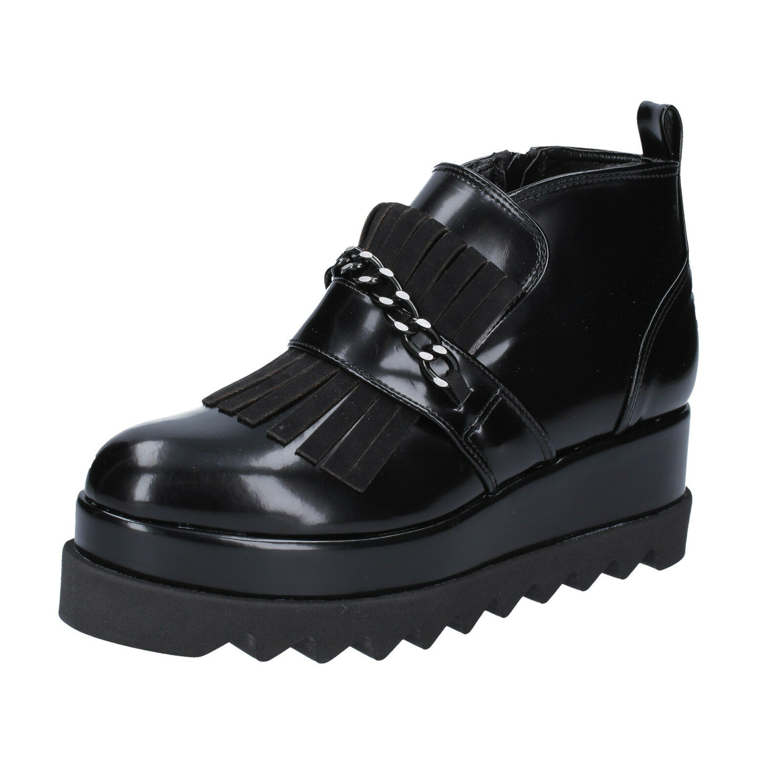 Damen schuhe OLGA RUBINI 41 EU ankle boots elegante schwarz leder BX782-41