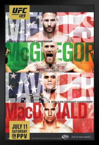ProFrames UFC 189 Chad Mendes vs Conor McGregor Sports Framed Poster 12x18