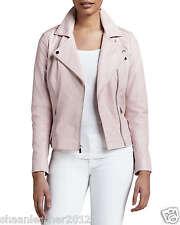 New Women's Leather Motorcycle Biker Jacket 100% Genuine Soft Lambskin #C24