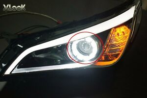 Image Is Loading Front Headlight Led Daylight Module Fits Hyundai 2017