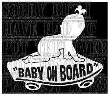 Baby on board girl VANS Skate board skater skating sticker vinyl sign white look