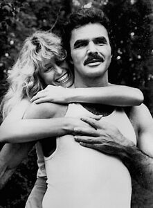 Farrah-Fawcett-Burt-Reynolds-Press-Photo-1983-Cannonball-Run-Stamped-Snipe-CBS