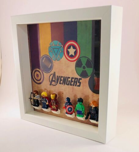 Display Frame Lego Marvel Avengers minifigures mini figures case
