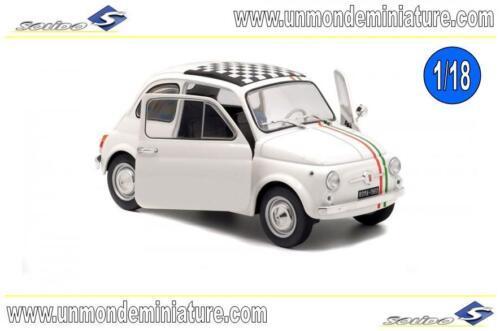 Echelle 1//18 Fiat 500 Italia 1968 White SOLIDO SO 1801403