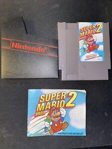 Super Mario Bros 2 NES Original Nintendo With Manual 1985 tested working