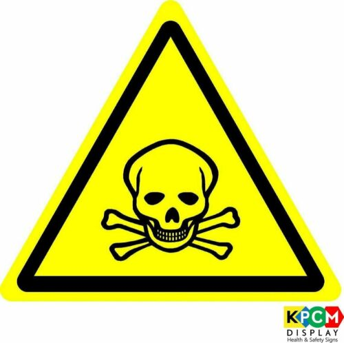 International Warning Toxic material Symbol ISO Safety Label Sign