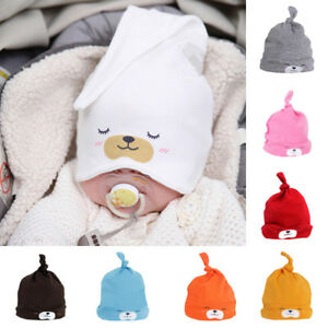 3318b0de994 Sweet Newborn Baby Girls Boys Cartoon Cotton Sleep Cap Beanie Hat ...