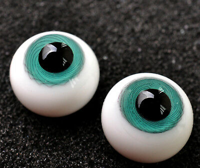 Nice Round 14mm Glass BJD Eyes for Volks Luts BJD Doll DeepBlue Iris/&Black Pupil