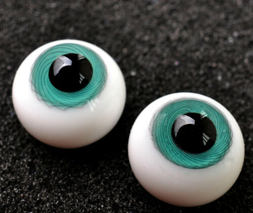 Nice Blue Iris withStripes 12mm Glass Eyes for Joint 1//6 BJD Dollfie