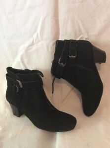 Footglove-Wider-Fit-Black-Ankle-Suede-Boots-Size-4