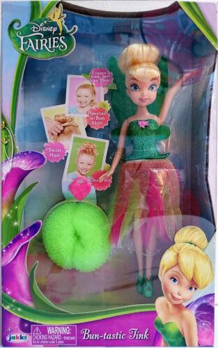 Disney Fairies Bun-tastique clochette Tinkerbell Fée Poupée Avec Cheveux Chignon