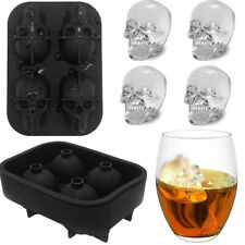 Halloween Flexible Silicone Ice Cube Mold Trays Skulls Spiders Pumpkins Greenbrier 1406 Set Of 3