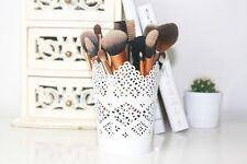 Ikea White SKURAR Makeup Brush holder Candle Holder Stationary Holder
