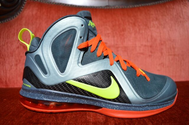 2023ca7086 NEW Nike Air Lebron 9 IX ELITE Cannon PE PROMO SAMPLE Size 10.5 Green Orange