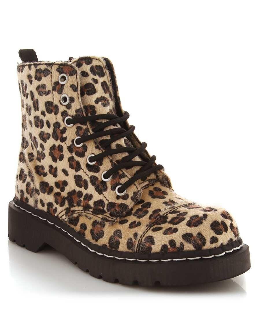 T.U.K. Scarpe Leo Faux Leopard Capelli 7 Eye  avvio  comodamente