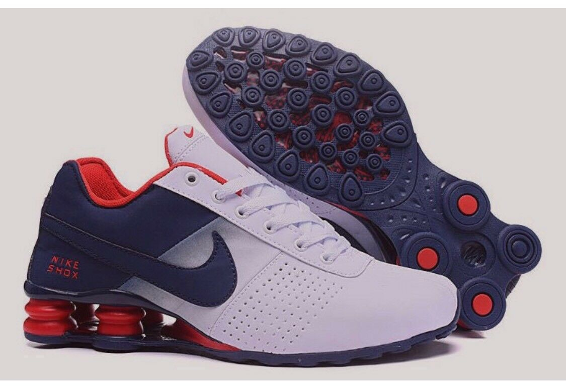 Nike Shox Deliver Uomo Athletic Shoe Red White and Blue Size 9.5