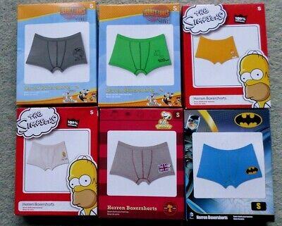 Herren Retroshorts Comic Snoopy Batman Loony Tunes Simpsons Gr S XL