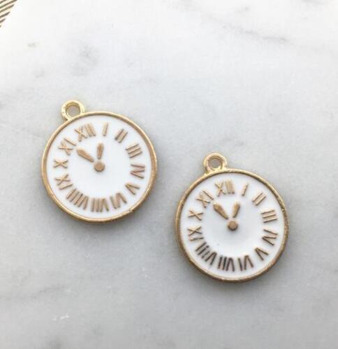 5pcs goutte huile Horloge Pendentif Fit Handmade Bracelet Collier accessoires bricolage