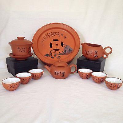 Chinese Gong Fu Ceremonial Tea Set Pinming Cups Gaiwan
