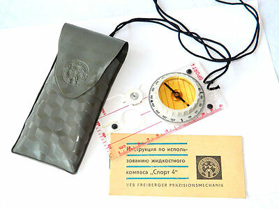 VTG Pro Hiking Compass w/ Orig. Pouch & Papers Sport 4 Freiberger Prazisionsmech