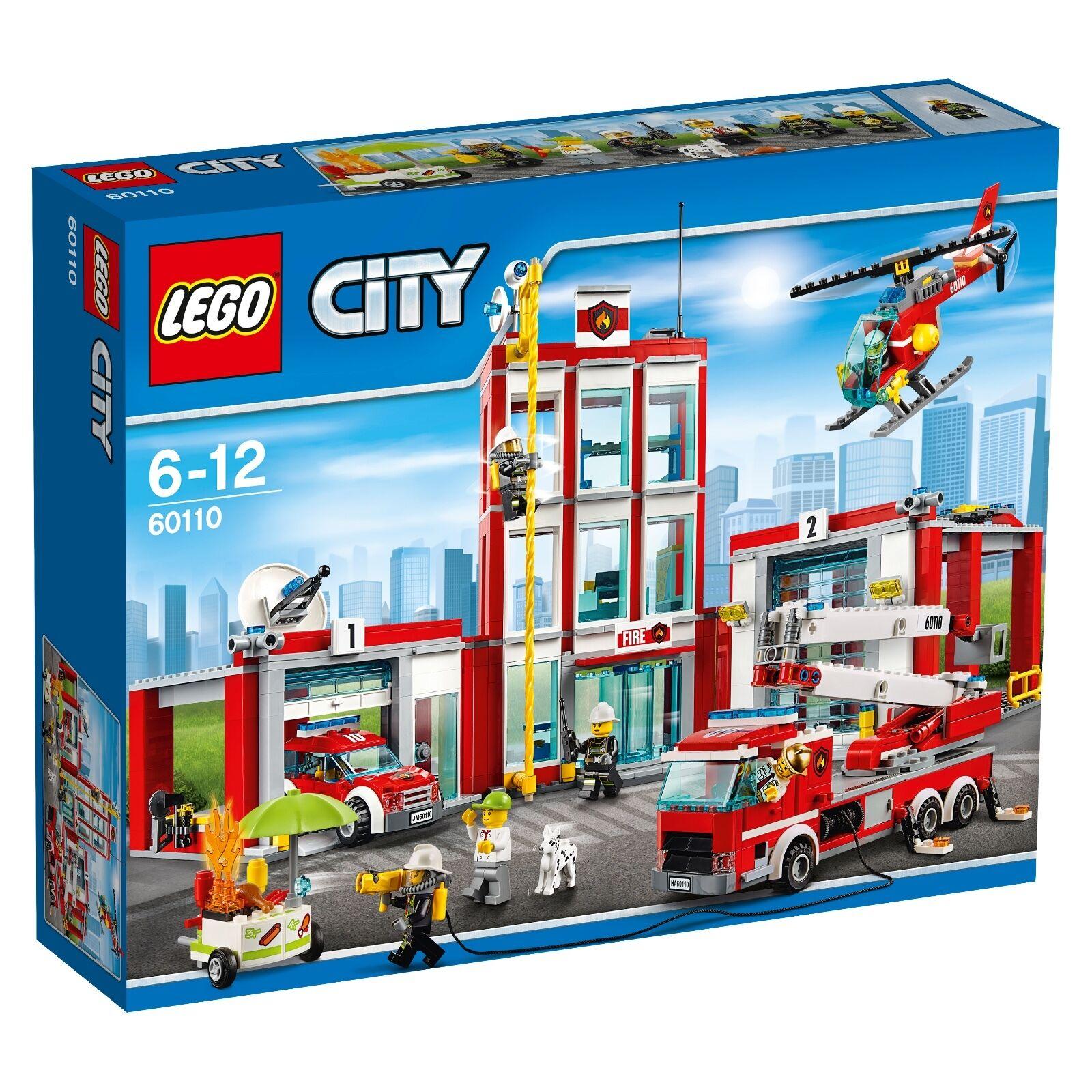 LEGO ® City 60110 grandi Stazione Pompieri NUOVO OVP _ Fire Station NEW MISB NRFB