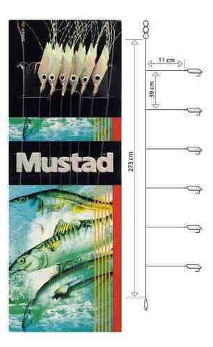 Mustad Piscator X-white Rig T91 Makrelenvorfach Meeresvorfach Heringvorfach