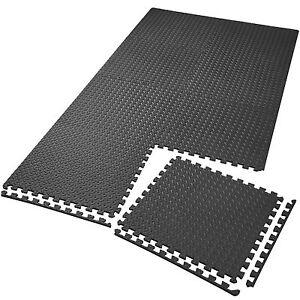 8er-Set-Schutzmatten-Bodenmatte-Unterlegmatte-Fitness-Gymnastik-Puzzle-schwarz