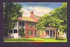 LMH Linen Postcard GLEN BURNIE Residence Home JAMES WOOD Governor VA Estate 1954