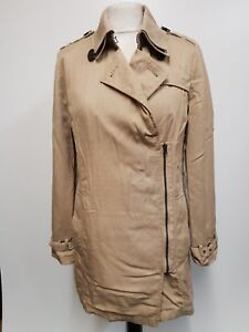 Y6-WOMENS-SUPERDRY-THE-DRAPED-TRENCH-BEIGE-COTTON-TRENCHCOAT-JACKET-S-8-EU-34