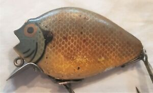 Antique-Wood-Heddon-Fishing-Lure-Punkin-Seed-Crapie-Estate-Fresh