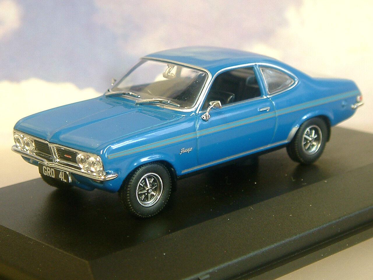 Superbe Oxford Diecast 1 43 1971-75 Opel Firenza Sport Sl Oiseau blue blue Vf001