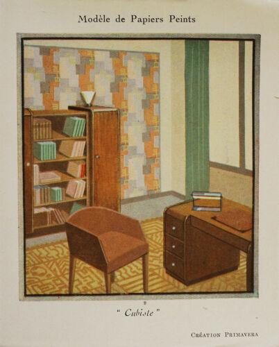 Circa 1930 Art Deco Wall paper flyer booklet Primavera Ruhlmann Sue/&Mare