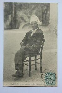 Postcard-Antique-Animated-Suit-Traditional-Savoie-Aiguebelette