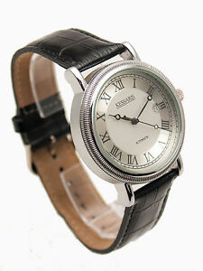 Details about KESSARIS: AUTOMATIC SELF WINDING MECHANICAL STAINLESS STEEL CASE LEATHER WATCH