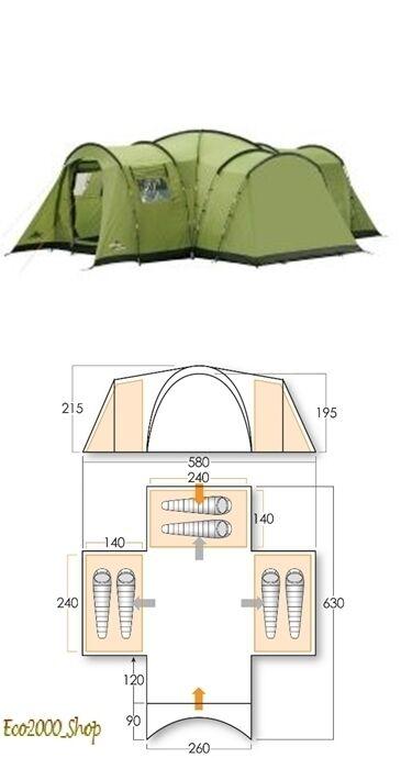 Tenda da campeggio VANGO 6 posti KASARI 600