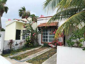 Preciosa Casa de 1 Piso 2 Recamaras en Privada con Seguridad Gran Santa Fe Cancun