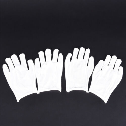 12Pairs White Inspection Cotton Lisle Work Gloves Coin Jewelry Coin Lightweight