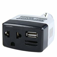 12v/24v to 220V DC to AC Car Power Converter Adapter Inverter USB Outlet Charger