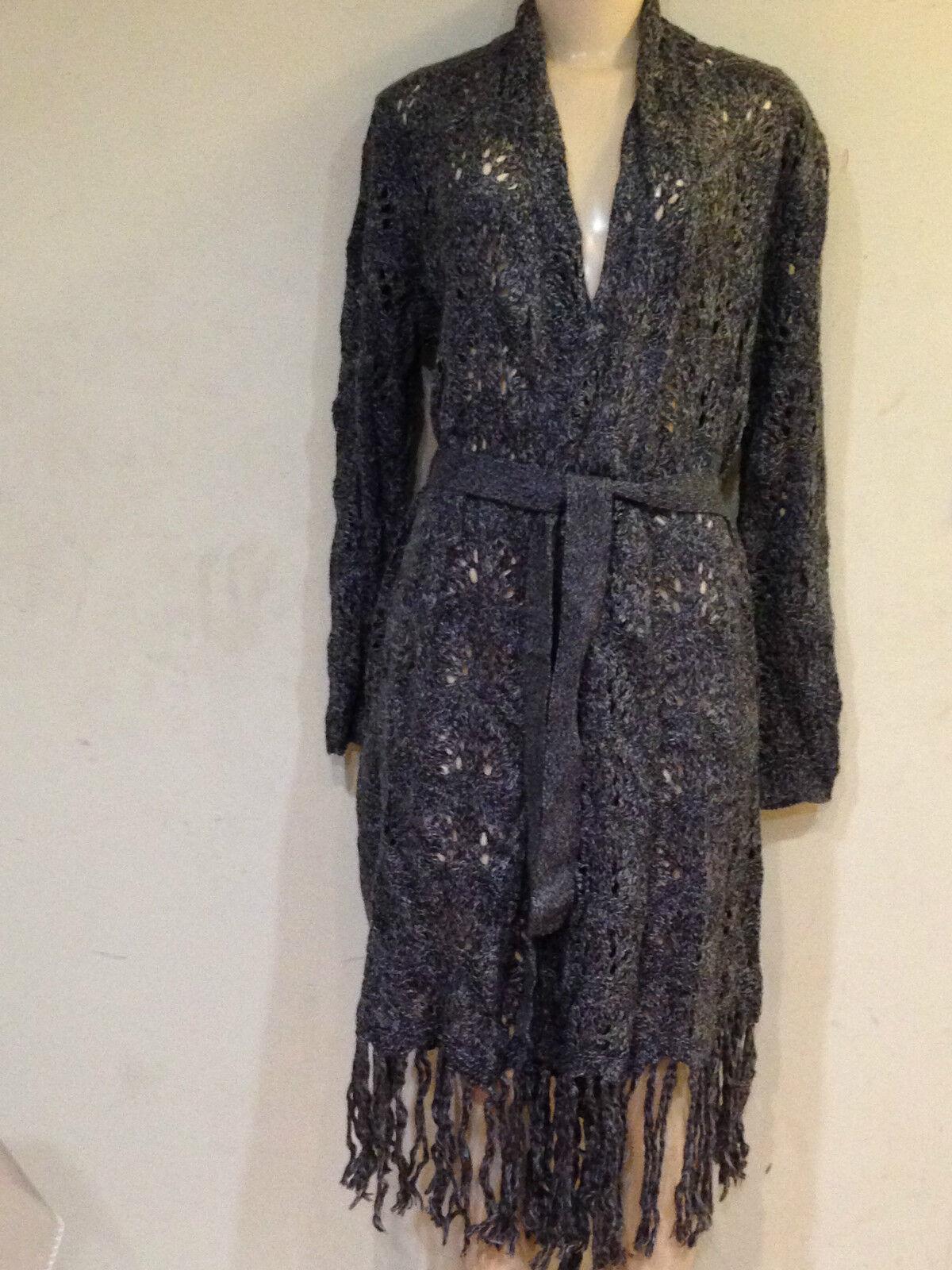 Damen Winter Herbst Frühling Licht lange Strickjacke Mantel Jacke Größe L $ 130