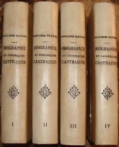 NAYRAL-BIOGRAPHIE-CHRONIQUES-ET-ANTIQUITES-CASTRAISES-1833-1837-4-VOLUMES
