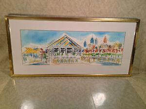 Eli-039-s-Pier-34-on-Delaware-River-in-Philadelphia-PA-Watercolor-1992-Joe-Barker