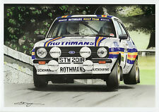 Rothmans Rally Ford Escort MK11RS Cholmondeley Pageant Large Greeting card dugan