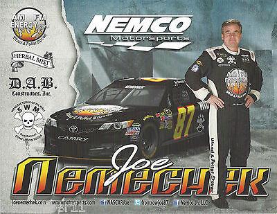 AM FM NASCAR POSTCARD 2011 JOE NEMECHEK #87 EXTENZE