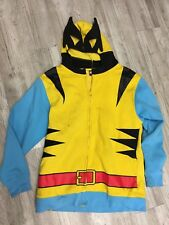 It Clown Sweatshirt Zip Up Full Face Mask Hoodie Mesh Eyes Costume Size XL 46-48