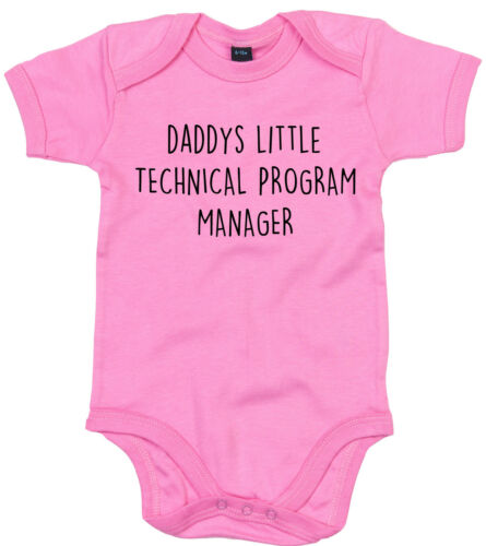 Tecnica Program Manager BODY SUIT personalizzata DADDYS LITTLE BABY GROW Regalo