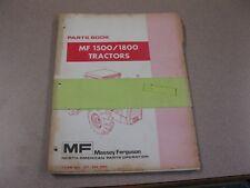 Massey Ferguson Mf 15001800 Tractor Parts Book