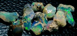 20-Cts-Natural-Ethiopian-Welo-Opal-Rough-034-Bright-Flash-Fire-Color-034-Nice-Lot-1