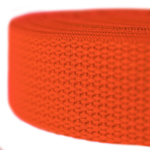 Country Brook Design® 3//4 Inch Orange Polypro Webbing 25 Yards